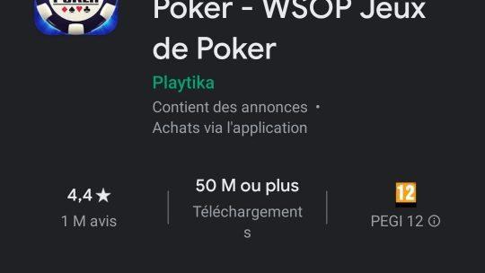 Application de poker mobile gratuite : les WSOP mobile existent !