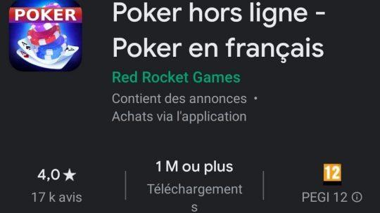 Poker hors ligne : Poker en français