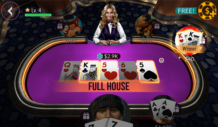 applications de poker Zynga Poker
