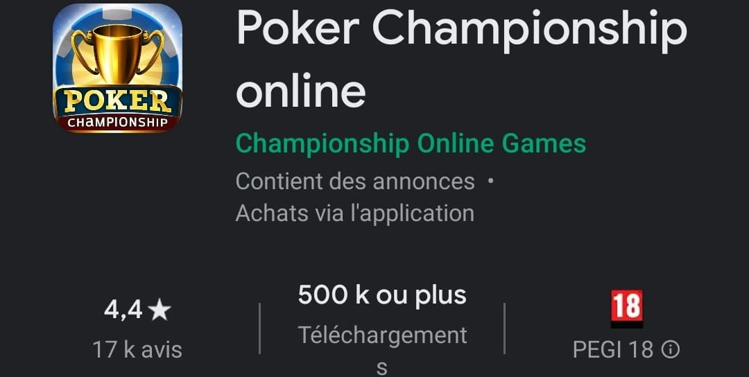 Poker Championship online : l'étoile montante ?