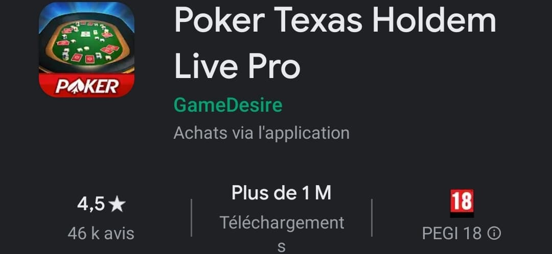 Poker Texas Holdem Live Poker : Le jeu de poker professionnel ?