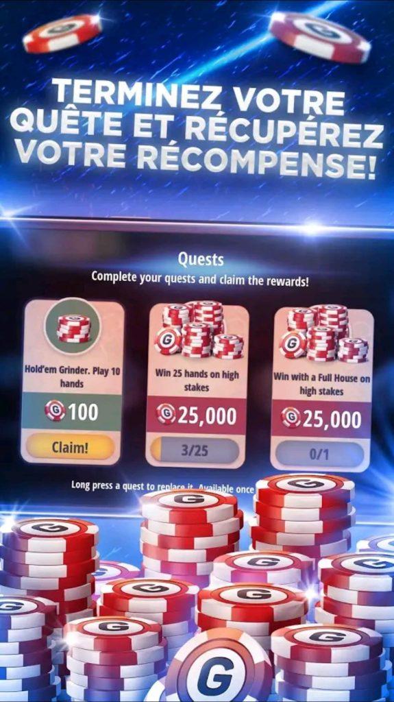 Les missions sur Poker Texas Holdem
