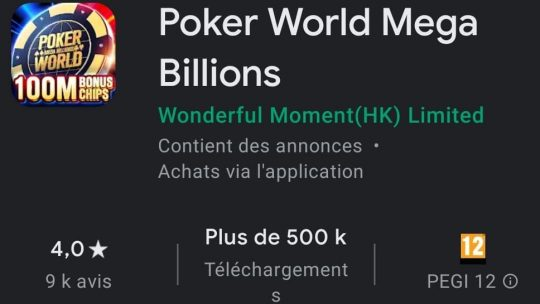 Poker World Mega Billions : Le jeu de poker qui fait gagner au loto ?