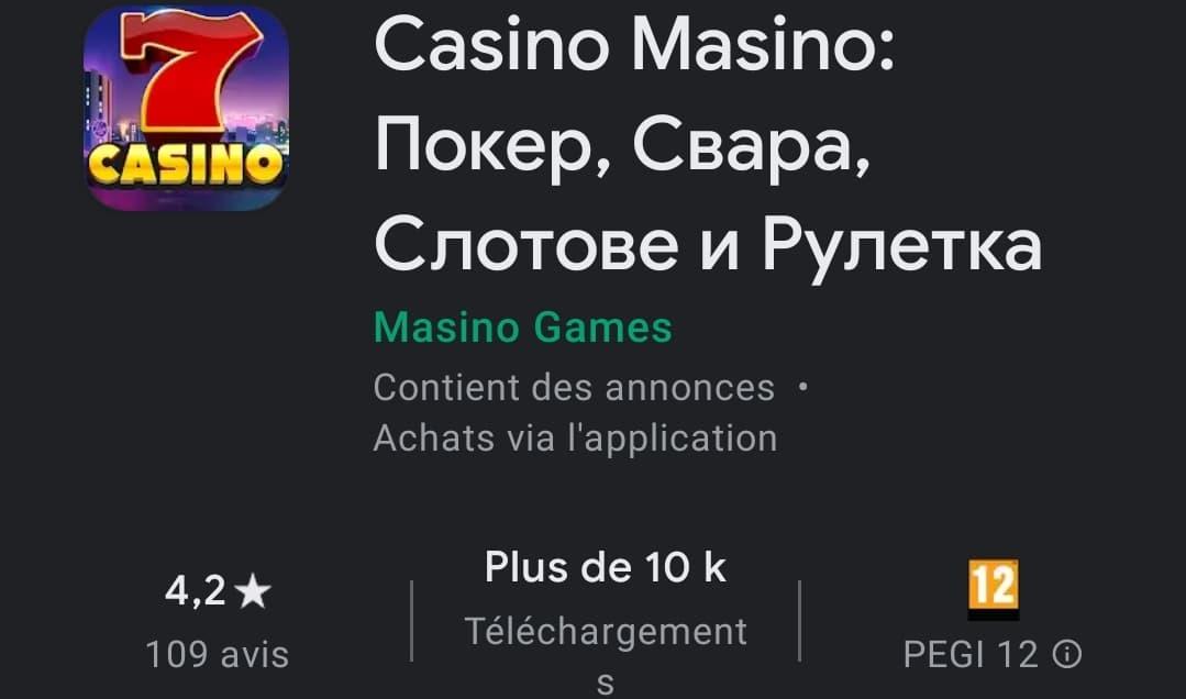 Casino Masino : La première application mobile de poker russe