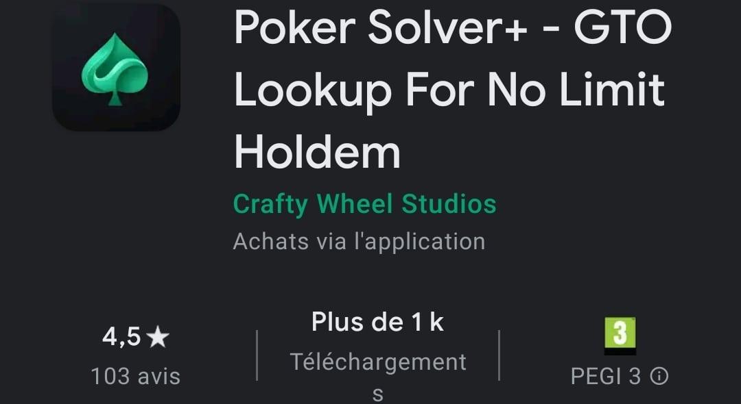 Poker Solver+ : l'outil mobile de référence pour être EV+