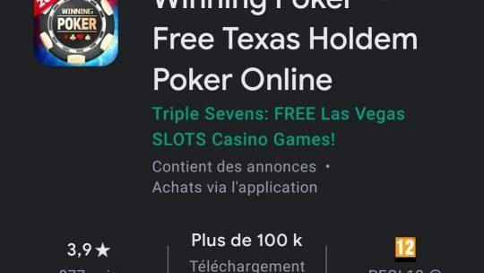 Winning Poker : leu gratuit en Texas Holdem de référence ?