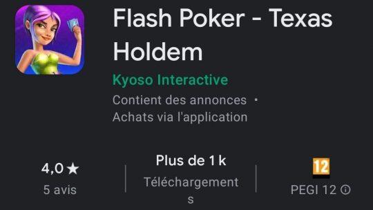 Flash Poker : Le jeu de poker ultra rapide !