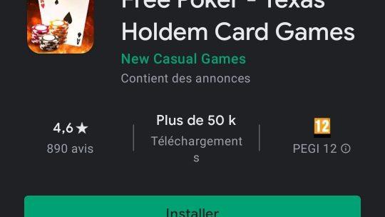 Free Poker : La seule application totalement gratuite !