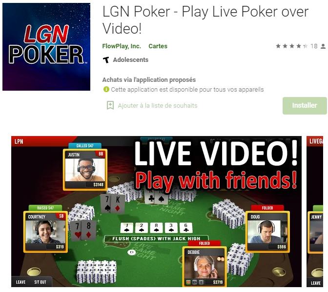 LGN Poker : Jouer au poker en live cam