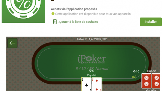 Informed Poker : Le Unibet version application mobile de poker